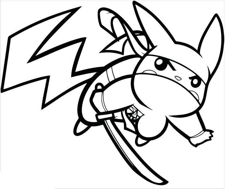 Simple Pikachu Coloring Pages Ideas for Children | Pikachu ...