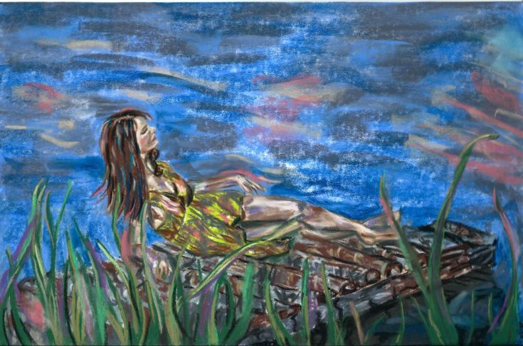 Buy Lady dreaming of a kiss, Rysunek Pastelami by Anna  Sasim on Artfinder. Discover thousands of other original paintings, prints, sculptures…