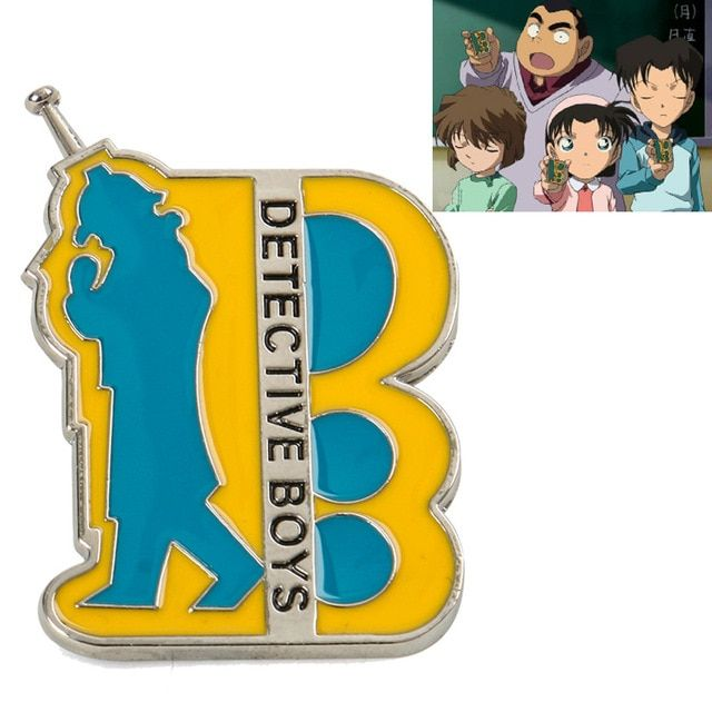1PC Anime Detective Conan Communicator Cospaly Brooch Anime Prop Badges