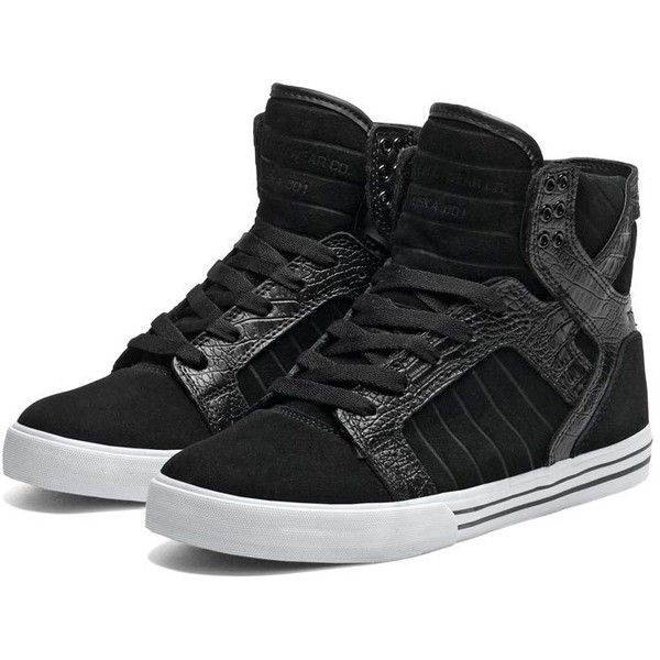 SUPRA Footwear (320 BRL) ❤ liked on Polyvore featuring shoes, sneakers, supra, zapatos, black white sneakers, mesh shoes, supra trainers, supra footwear and light weight shoes
