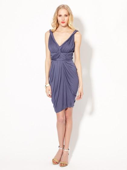 Pintucked Jersey Draped Dress by Catherine Malandrino on Gilt