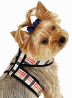 Designer Soft Dog Harness Tan Plaid....Plain or Personalized by PetsWithStyleBoutique.com for $19.99