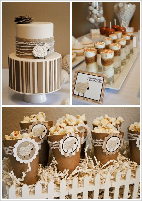 Little Lamb birthday party - great for baby shower