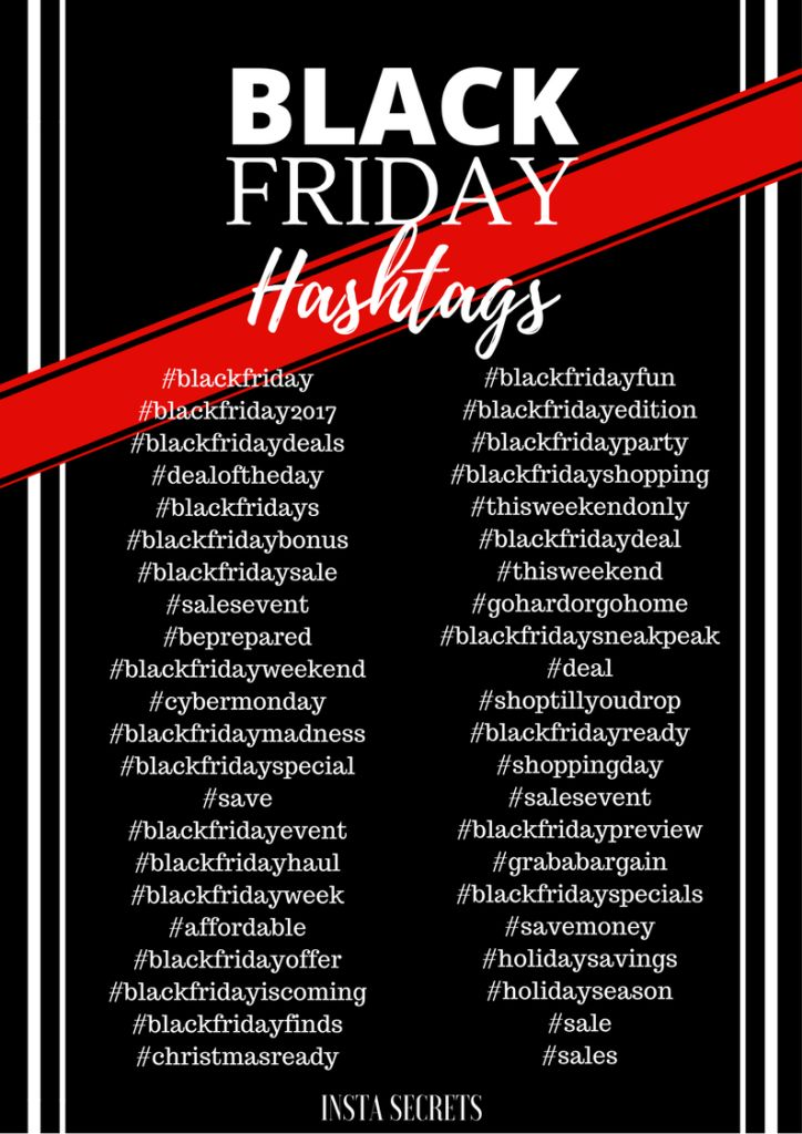 Kick start your Black Friday Instagram campaign with these Black Friday Hashtags