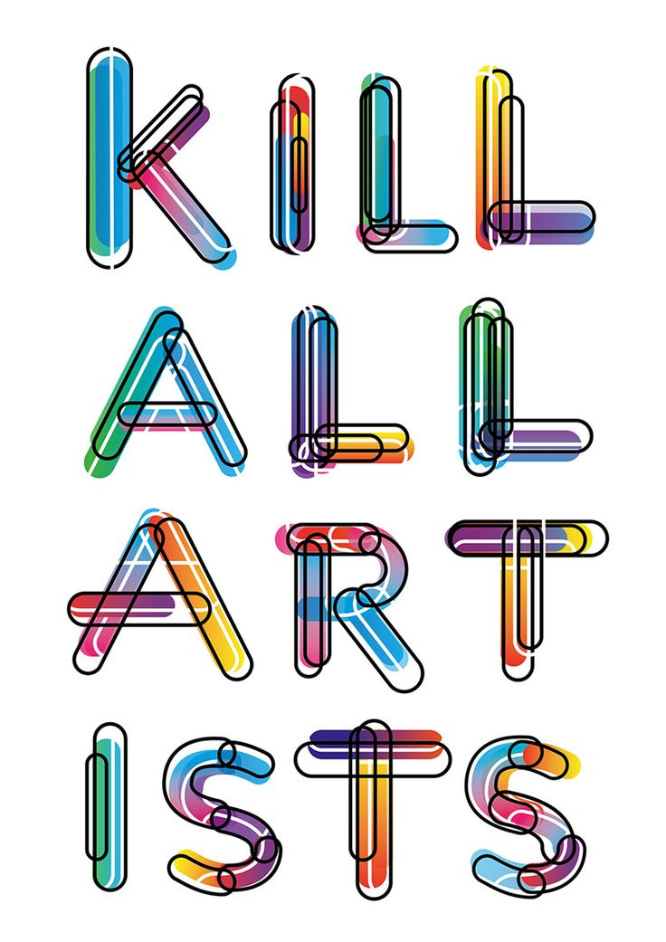 KILL ALL ARTISTS Submitted by Desha Nujsongsinn.
