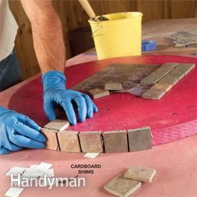 Build an Outdoor Table With Tile Top and Steel Base - Step by Step: The Family Handyman