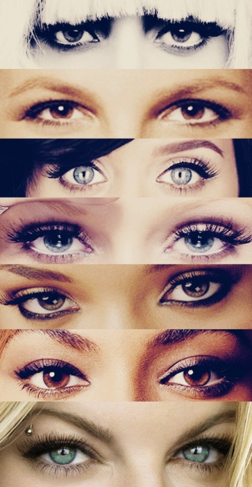 Lady Gaga, Britney Spears, Katy Perry, Christina Aguilrra, ?, Beyonce, Fergie