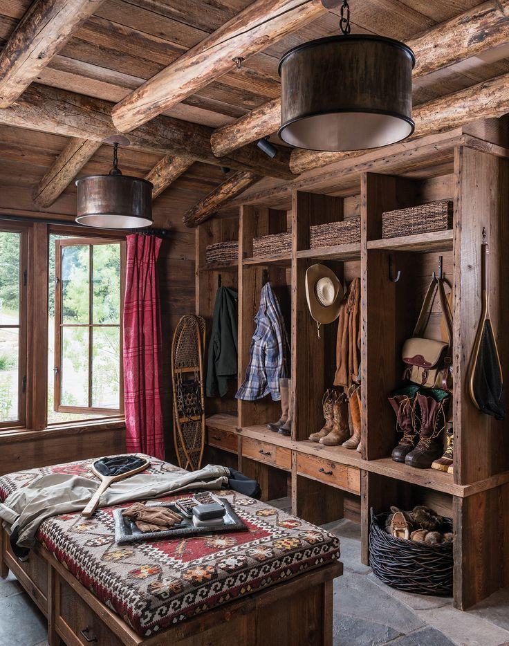 Breathtaking Rustic Mountain Home In Big Sky Ansel Haus MUD ROOM