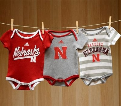 Nebraska Baby 3PC Lil Fan Bodysuit Set