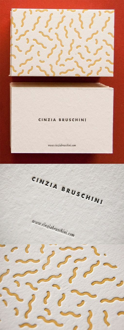 Quirky Textured Letterpress Business Card Design