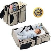 Wish | Foldable Portable Baby Bed Bag Multifunctional Large Capacity