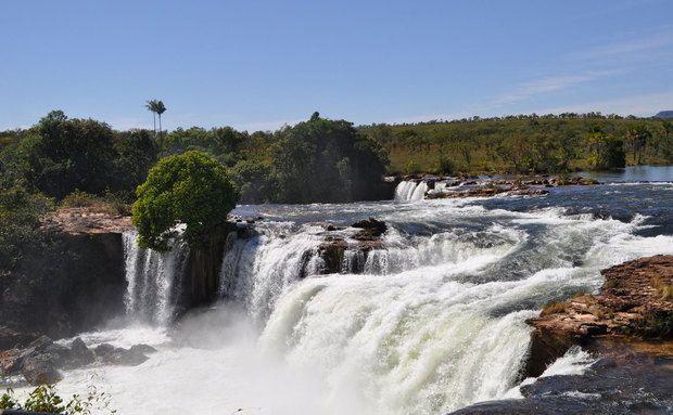 Queda d'água da Cachoeira Velha, Parque Estadual do Jalapão, Tocantins