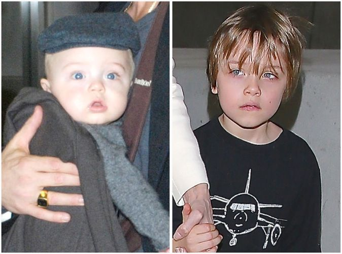 Knox Jolie Pitt_born in 2008 & at age 6 in 2015