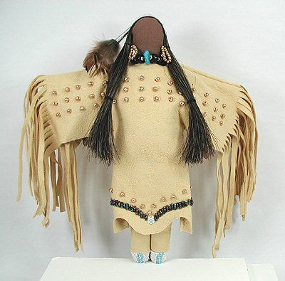 Native American Oglala Lakota doll - Gold Bead Woman by Diane Tells His Name