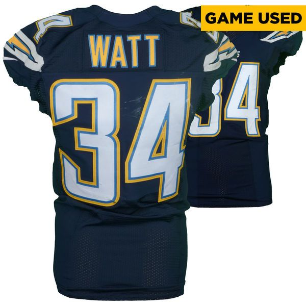 Derek Watt San Diego Chargers Fanatics Authentic Game-Used #34 Navy Blue Jersey vs. Miami Dolphins on November 13, 2016 - $399.99