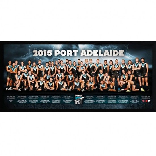 OFFICIAL 2015 AFL PORT ADELAIDE POWER FOOTBALL CLUB TEAM LICENSED FOOTY POSTER