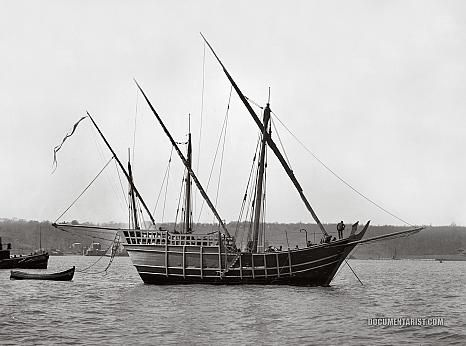 Replica of Columbus's ship, the Nina.