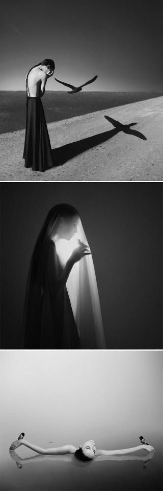 "Surreal Self Portraits by Noell S Ozwald. 1. ""Prejudice"", 2. ""Caged"". ☚"