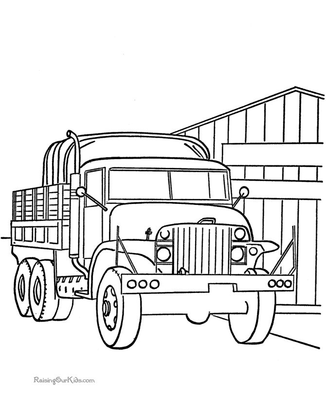 Military Vehicles Troop Transport Trucks Coloring Pages For Kids Printable 14 Best Images On Semi Diy And