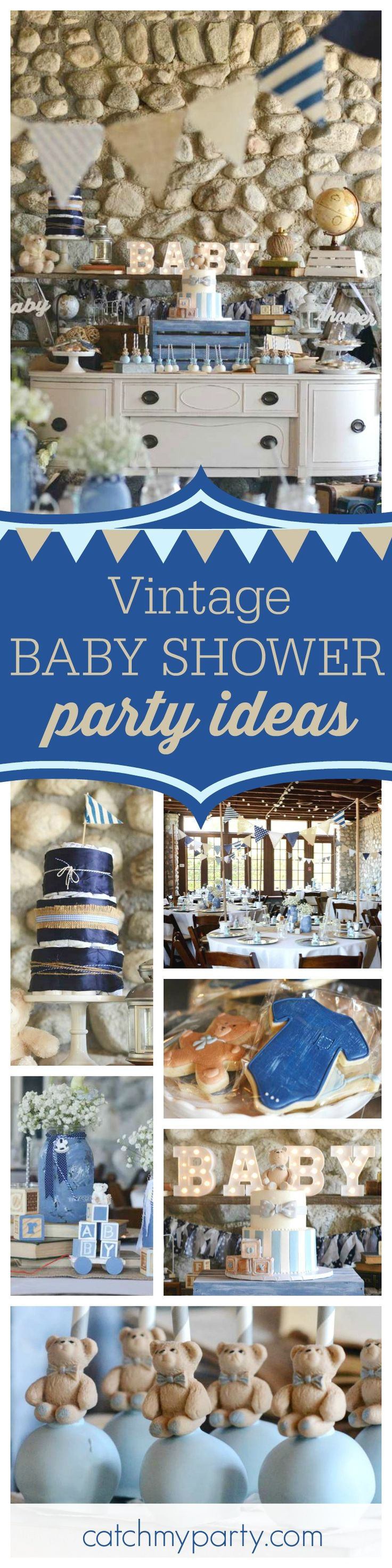 You don't want to miss this gorgeous Vintage Chic Baby Shower! The dessert table is amazing!! See more party ideas and share yours at CatchMyParty.com