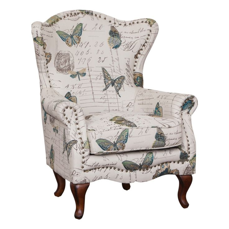 Milford Occasional Chair Butterfly Print