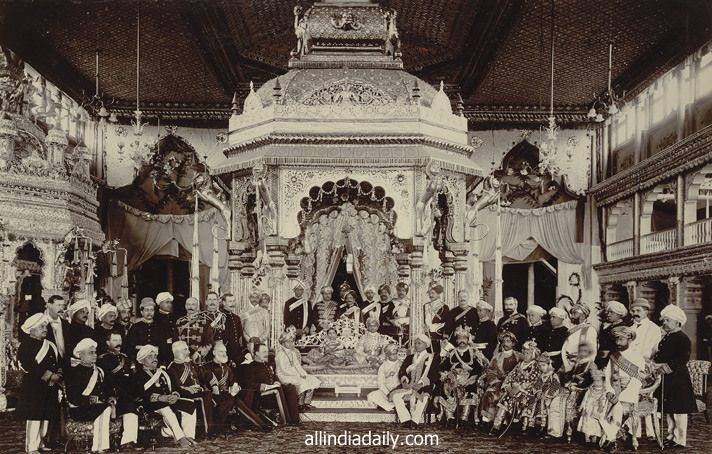 european-durbar-at-maharaja-krishna-raja-wadiyar-marriage ...