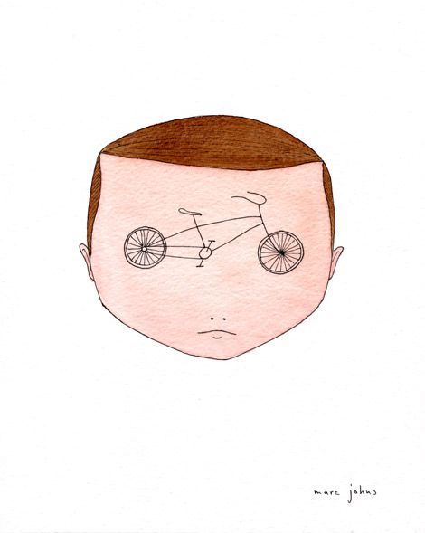 this isn't happiness.™: Bike Glasses Bike, Bicycles Eye, Artists, Bici Brain, Illustrations Art, Marc John Happy, Wheels Eye, Bicycles Art, Bike Brain
