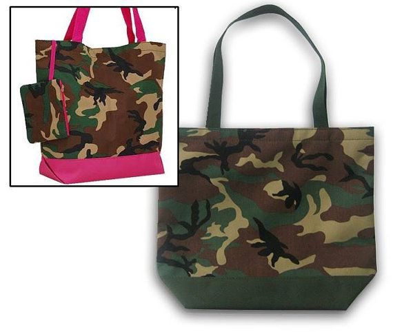 Camouflage Reusable Grocery Bag, Market Tote, Camo Fabric