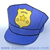 Paper Police Hat Craft Kids Can Make from www.daniellesplace.com