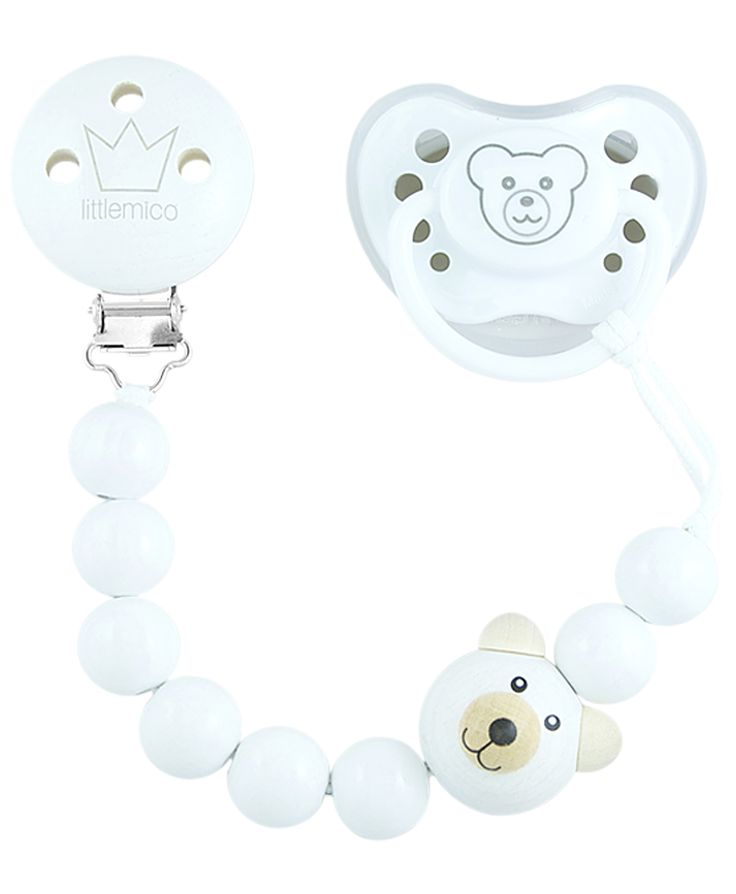 Littlemico™ Teddy Pacifier holder Gift Set. Unisex