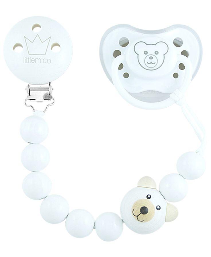Littlemico™ Teddy Pacifier holder Gift Set. Unisex