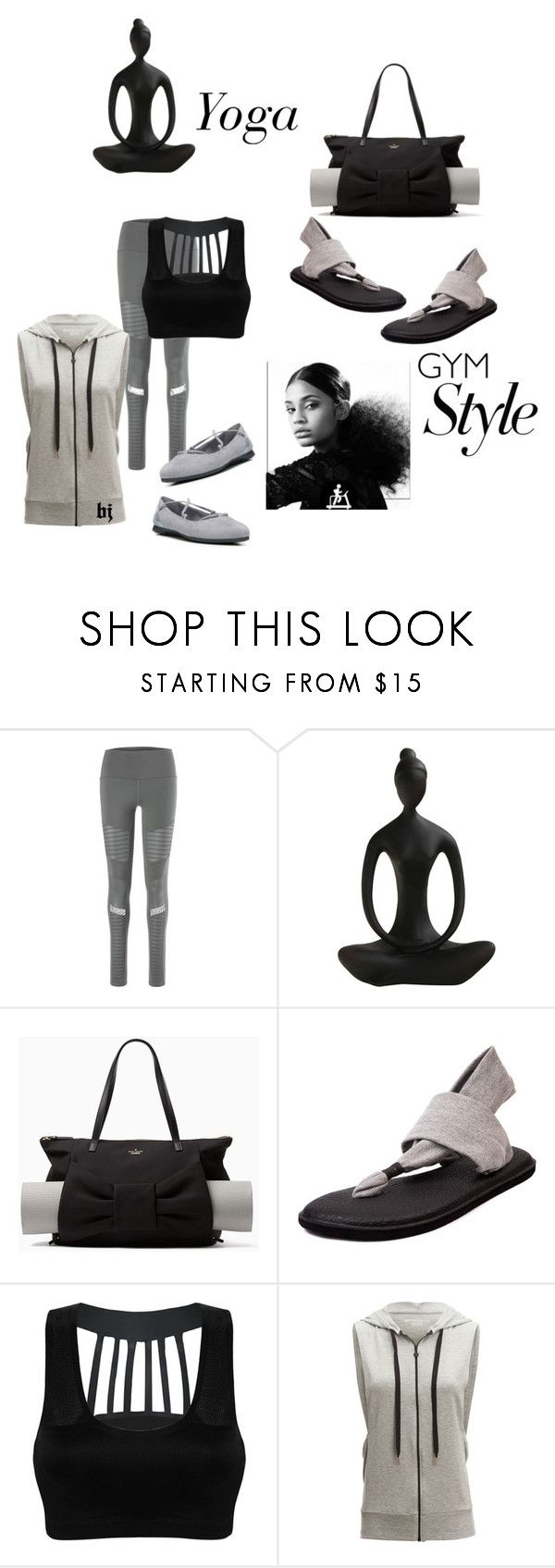 """""""Work It Out--Gym Essentials"""" by jacksondobe on Polyvore featuring Alo, Kate Spade, sanuk, Beyond Yoga, Dr. Scholl's and gymessentials"""