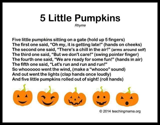 5 Little Pumpkins Rhyme