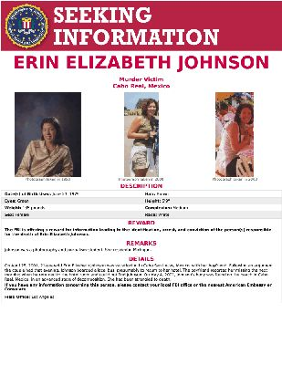 ERIN ELIZABETH JOHNSON — FBI