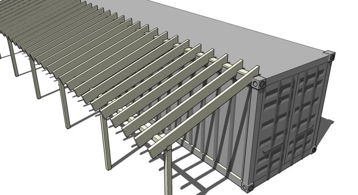 Shipping Container Barn Plans | Re: Adding Shed Roof on Side of Shipping Container