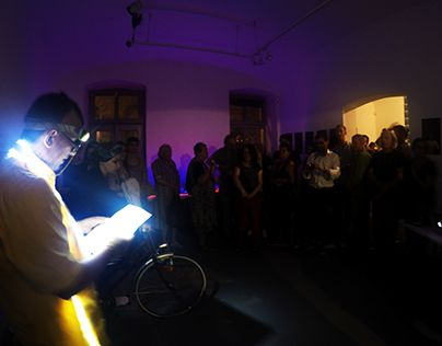"Check out new work on my @Behance portfolio: ""Light bike, performance, 2015.Labor galery BP."" http://on.be.net/1EYehEQ"
