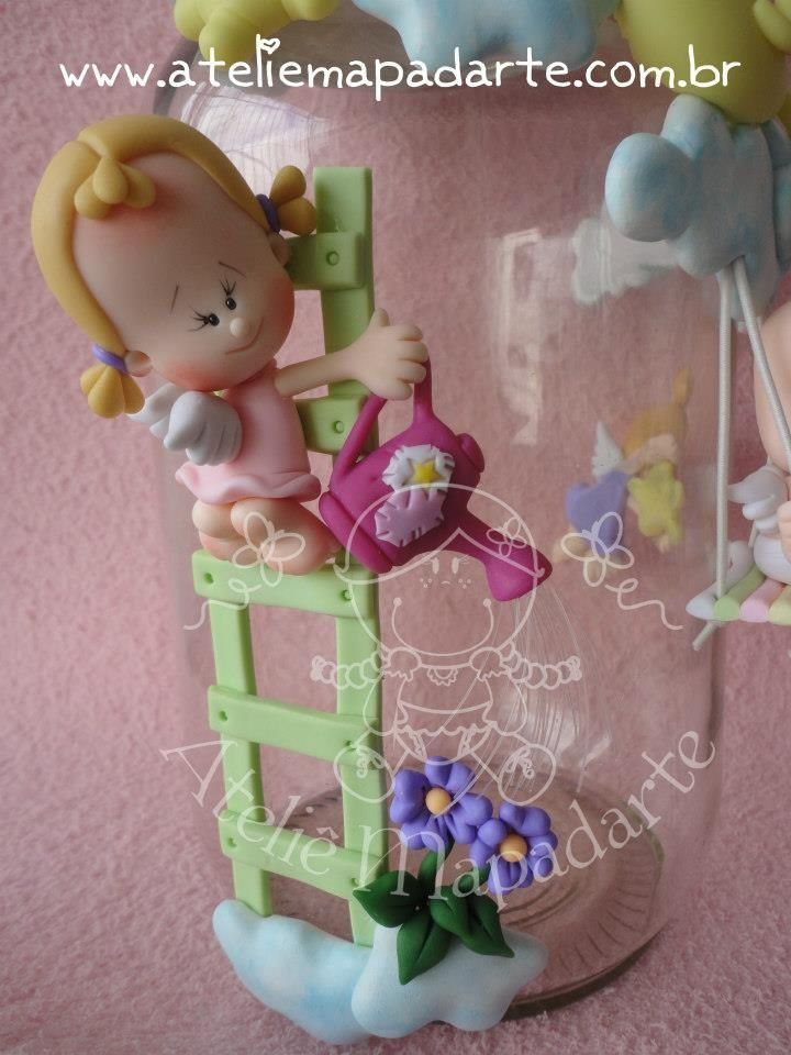 Little girl gardening #polymer #clay