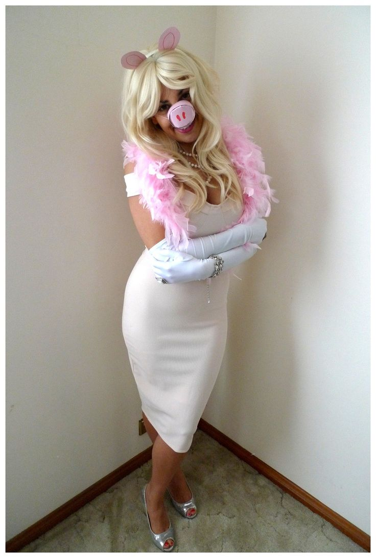 Miss Piggy Kostüm selber machen   Kostüm Idee zu Karneval, Halloween & Fasching