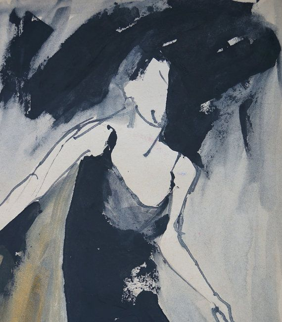 Woman in motion in a summer dress on straps. by ankaGilding