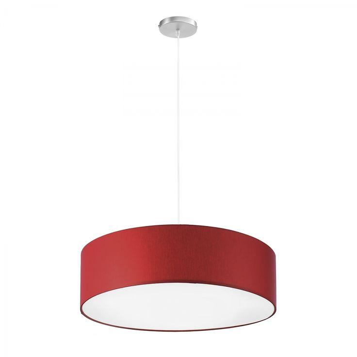 Lampada a sospensione Shade I - Ferro/Tessuto - 3 luci - 60 - Rosso