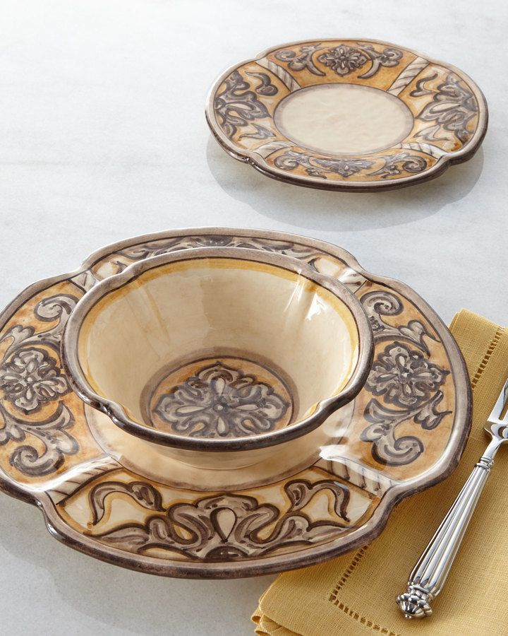 Tuscan Horchow Dinnerware & ... Red TUSCAN Horchow 16pc DINNERWARE ...