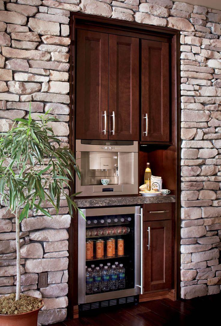 Built in kitchen coffee bar kitchen pinterest