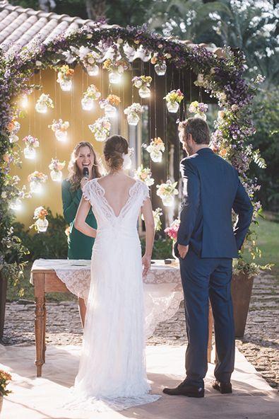 Casamento no jardim de casa – Marina