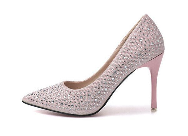 Buy SHOES/WOMENS SHOES/BRIDAL SHOES/WEDDING SHOES/FORMAL SHOES/DIAMANTE DETAIL PINK PUMPS SHOES for R579.00