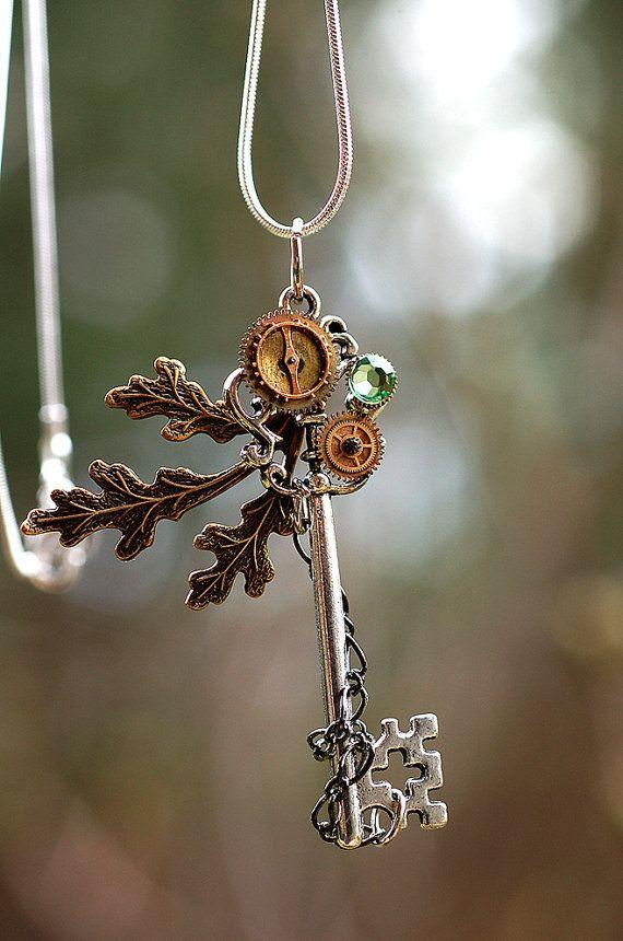 Nature's Zen Key Necklace by KeypersCove on Etsy  https://www.etsy.com/listing/97959755/natures-zen-key-necklace?ref=v1_other_1