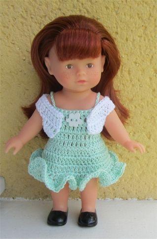 Manon vous présente aujourd'hui un ensemble chic                    Je vous propose les explications      Fournitures  : du coton vert p...