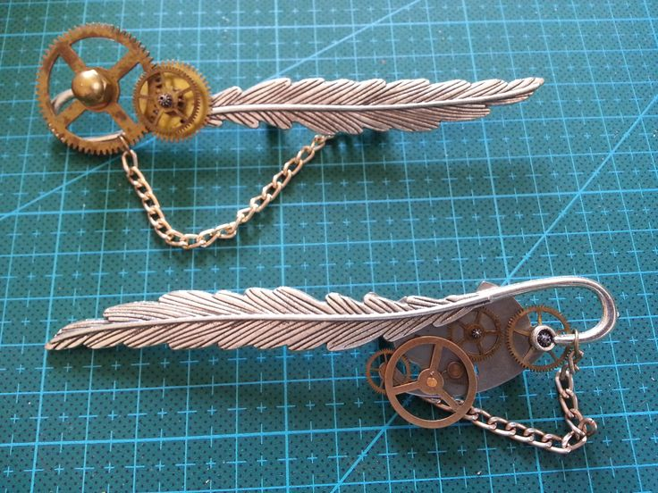 Male steampunk brooches