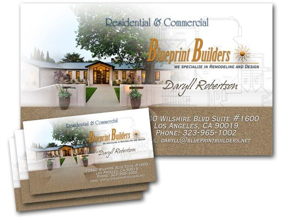 66 best business card designs images on pinterest card designs blueprint builders sample business card malvernweather Choice Image