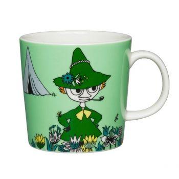 Arabia's Moomin mug, Snufkin, green