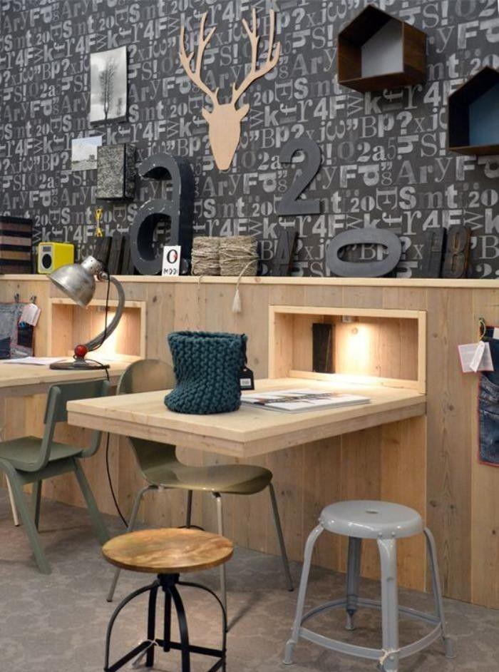 Les 25 meilleures id es de la cat gorie table murale rabattable sur pinterest - Plan de travail mural rabattable ...